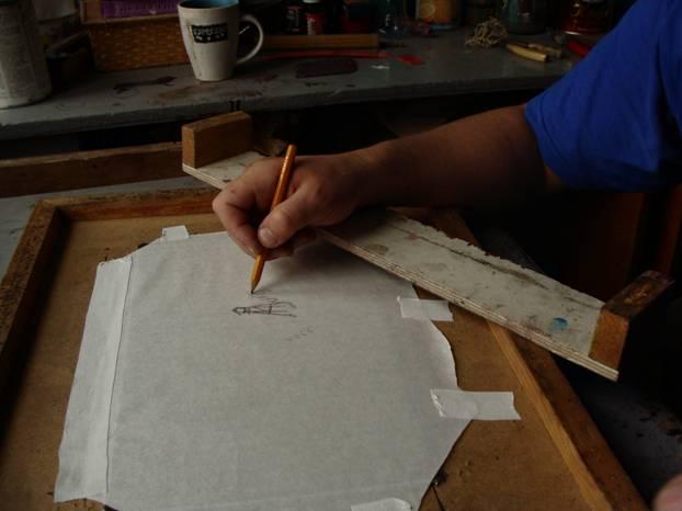 Рисование в манере офорта мягкий лак
