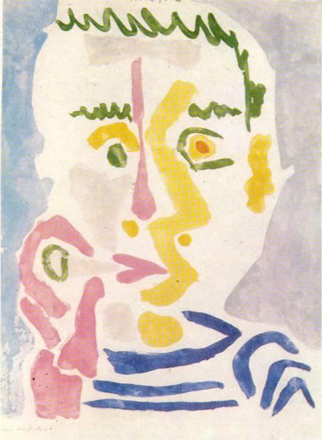 П. Пикассо, «Курильщик», лавис