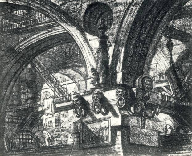 Дж.-Б. Пиронези, 15-й лист из серии «Тюрьма», офорт.