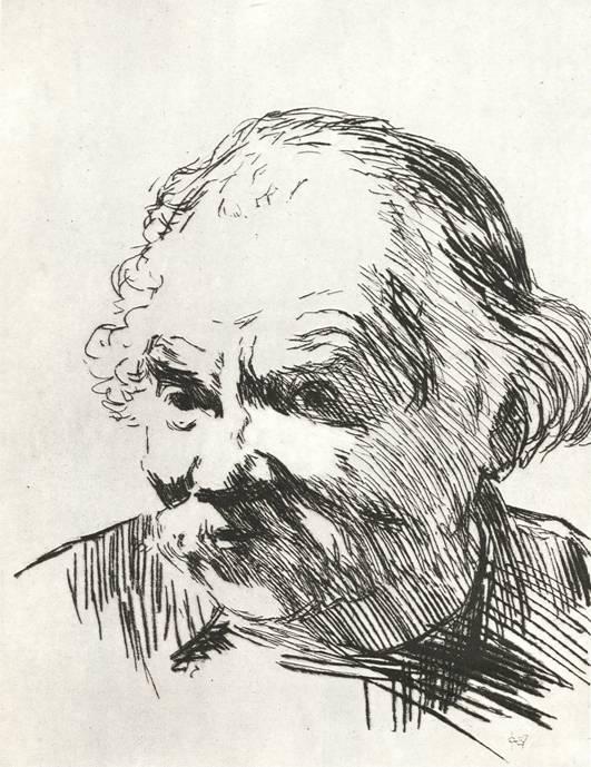М. И. Фейгин, «Портрет П. Радимова», сухая игла.